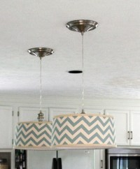 DIY drum shade pendant light | Do it myself | Pinterest