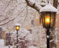 Street Lamps | Winter and Christmas Scenes | Pinterest