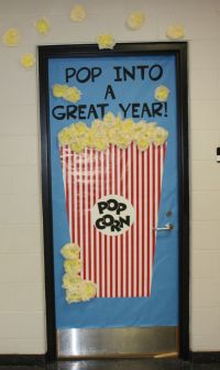 Popcorn door | Door Decorations | Pinterest