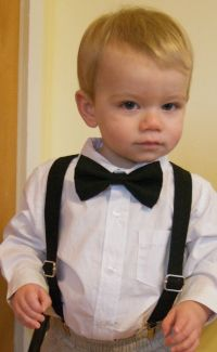 Bow Tie & Suspenders Set - ANY SOLID COLOR - Baby Toddler ...
