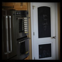 Chalkboard pantry door | Home | Pinterest