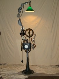 Industrial floor lamp steampunk floor lamp machine age ...