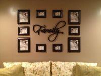Photo arrangement for a wall.   Home :]   Pinterest