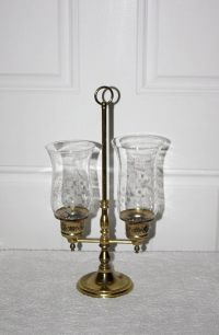 Vintage Princess House Double Hurricane Candle Holder