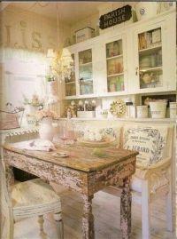 French country shabby chic kitchen | kitchens | Pinterest