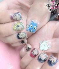 Fairy Tail nail art | nail art inspiration | Pinterest