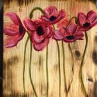 Watercolor flowers painted on wood | Art & Inspiration ...
