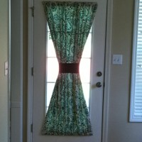 Kitchen door curtain ! | good ideas | Pinterest