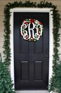 """18"""" Wooden Monogram-Ready to Paint-Monogram your Front Door"""