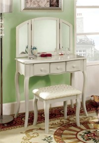 Chelsea White Makeup Vanity Table Set | MakeUp Vanity ...