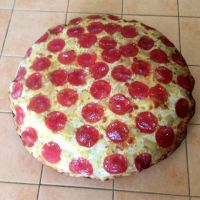 Pepperoni Pizza Dog Bed