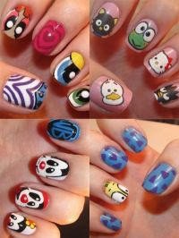 Nail Arts Cartoon Character | Nail Art Designs