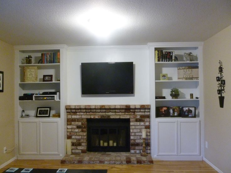 Built In Bookshelves Around Fireplace Built-in Bookshelves Around Fireplace | Home Decor | Pinterest