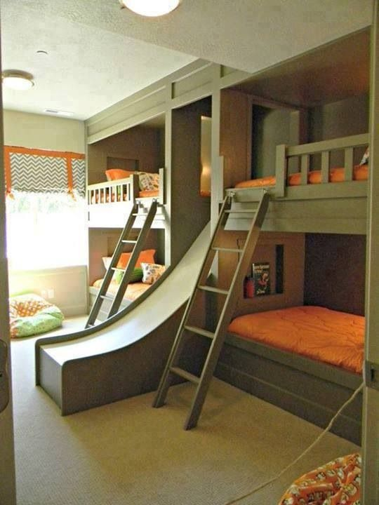Cool Bunk Beds With A Slide Home Pinterest