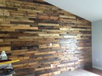 Pallet board wall in my living room | kitchen | Pinterest