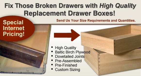 Kitchen Cabinet Drawer Box Replacement - Kitchen cabinet drawer boxes