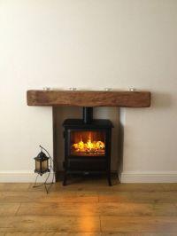 Oak beam fireplace mantel reclaimed lintel rustic floating ...