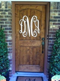 Wood monogram on your front door.   For the Home   Pinterest