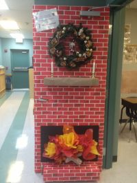 awesome 3D holiday door | Holiday Classroom | Pinterest