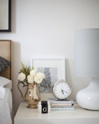 cute round clock, nightstand | For the Home | Pinterest