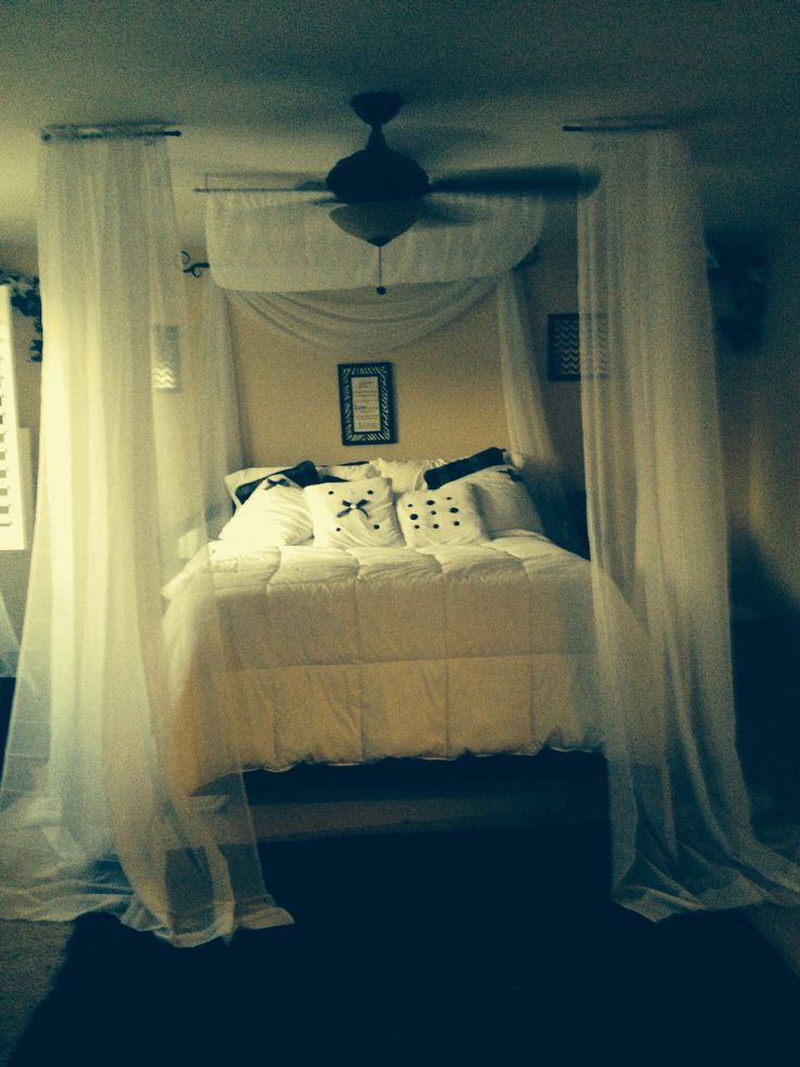 Bed Canopy With Curtain Rod