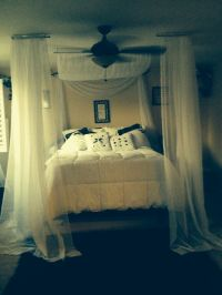 Bed Canopy With Curtain Rod | BangDodo