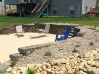 Retaining wall for beach area on lakefront property ...