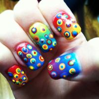 rainbow crazy nail design | Nails! | Pinterest