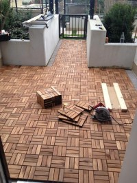 Outdoor Patio Decking with Ikea Platta | Outside ideas for ...