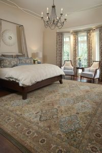 Master bedroom suite with area rug | Interiors that Work ...