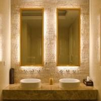 Backlit vanity mirrors | ID | Pinterest