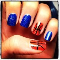 Basketball nail art. | Hawks for Her | Pinterest