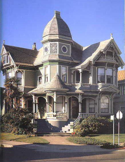 American victorian house architecture painting design