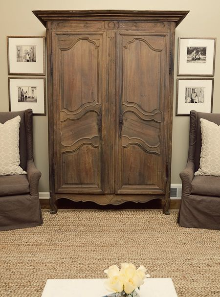 Singley Living Room Antique Armoire