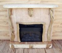 Driftwood fireplace mantle | driftwood here I come | Pinterest