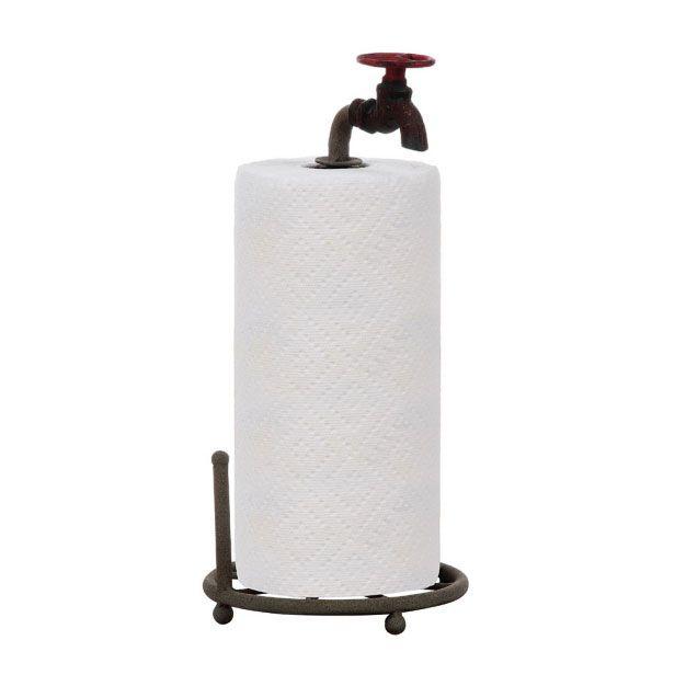 Turn the Tides Metal Paper Towel Holder