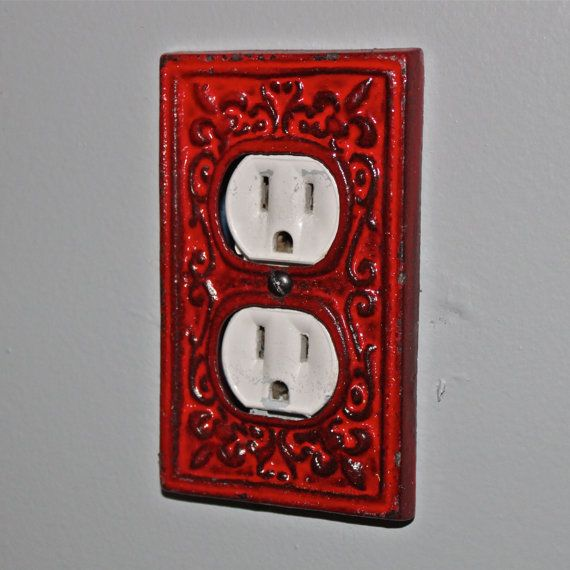 Decorative Outlet Covers Red Decorative Electrical Outlet Plate /plug-in Cover