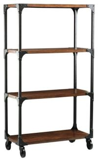 industrial look shelves | Storage, Cabinets, etc. | Pinterest