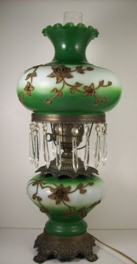Gone With The Wind Electric Parlor Lamp Ormolu and Glass ...