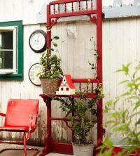 Old screen door   Glass & garden art that I LOVE!   Pinterest