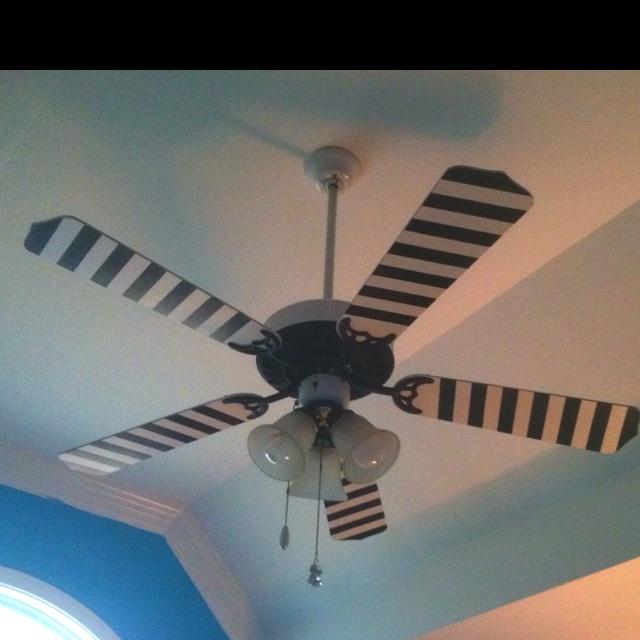 DIY painted ceiling fan.