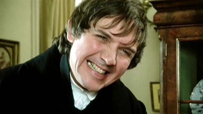 David Bramber playing Mr. Collin's in the 1995 adaptation of Pride and Prejudice.