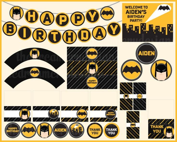 Batman Party Decoration Ideas Fiestas Pinterest