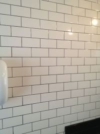white subway tile with dark gray grout | Our House | Pinterest
