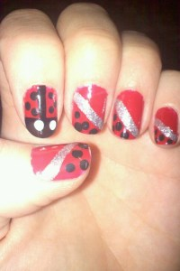 Lady Bug Nails | All Things Nails | Pinterest
