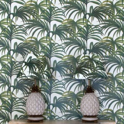 Palmeral wallpaper by house of hackney | malibu barbie dreamhouse | P…