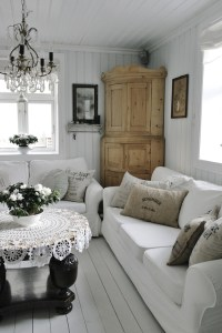 Cottage style living room   Living Spaces   Pinterest