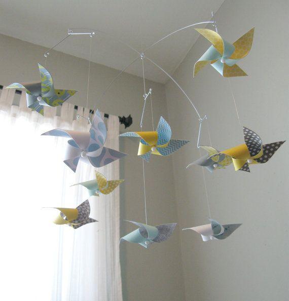 Ceiling Hung Baby Mobile / Nursery Mobile / Crib Mobile