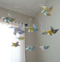 Ceiling Hung Baby Mobile / Nursery Mobile / Crib Mobile ...