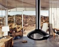 Suspended fireplace by Fire Orb | Interiors | Pinterest